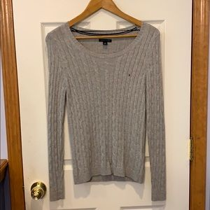 | LNC | Tommy Hilfiger Grey Cable Knit Sweater